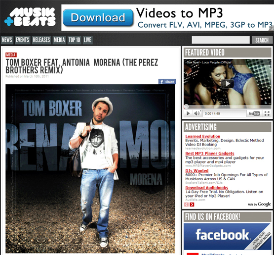 Morena by Tom Boxer Featuring Antonia Added To Musik+Beats Blog