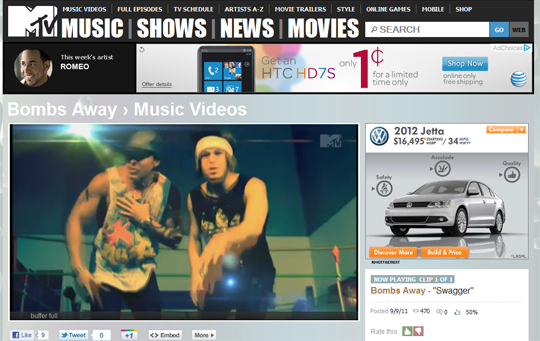 Bombs Away's Swagger now featured on MTV.com