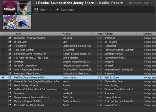 Check Out Our New Spotify Playlist: Radikal Sounds Of The Jersey Shore