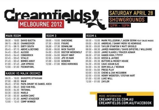 Bombs Away Is Added To The Superstar Lineup At Creamfields Australia