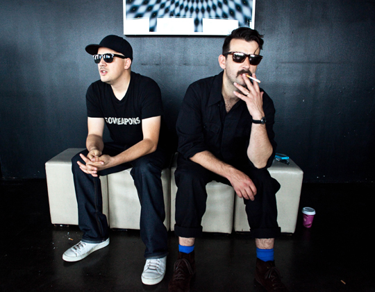 Check Out Modeselektor's closing set at the Mojave tent, Coachella 2012
