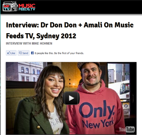 Dr Don Don Interviewed on Music Feed TV