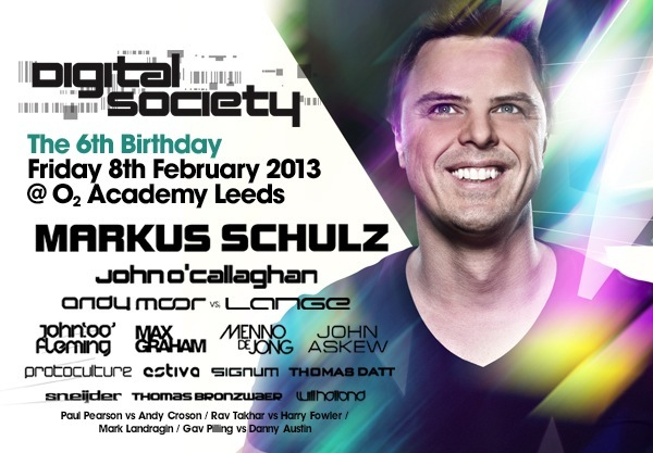 Markus Schulz to Headline for Digital Society, The 6th Birthday