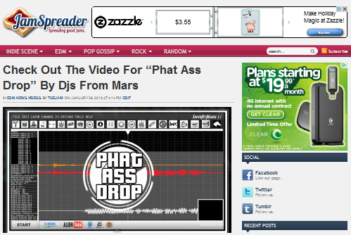 "DJs From Mars Featured On ""JamSpreader!"""