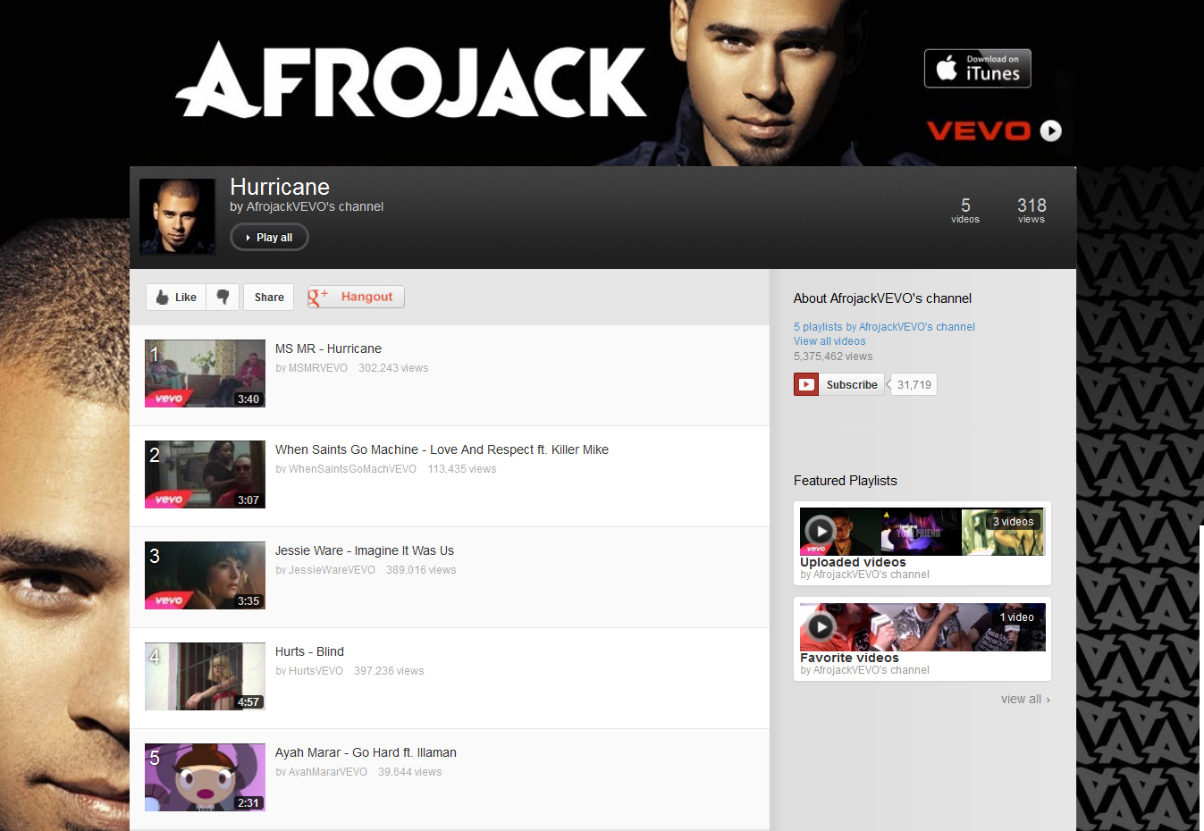"Ayah Marar's ""Go Hard"" Featured On Afrojack VEVO Playlist"