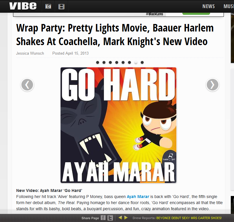 Ayah Marar Featured On Vibe