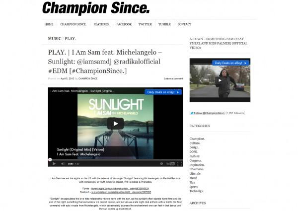 champion since - i am sam