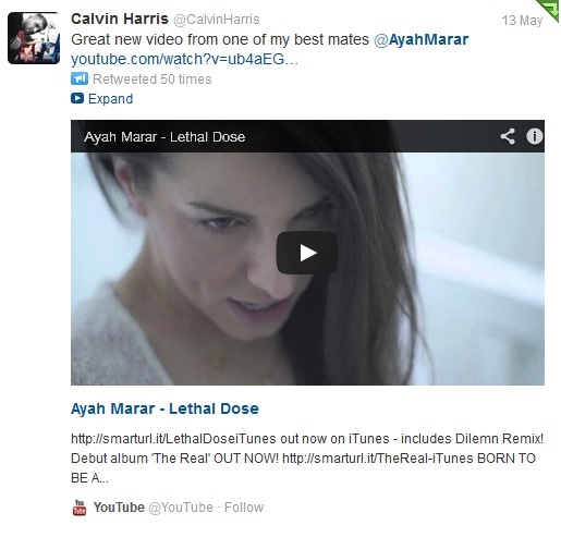 "Ayah Marar's ""Lethal Dose"" Video Shouted Out By Calvin Harris"