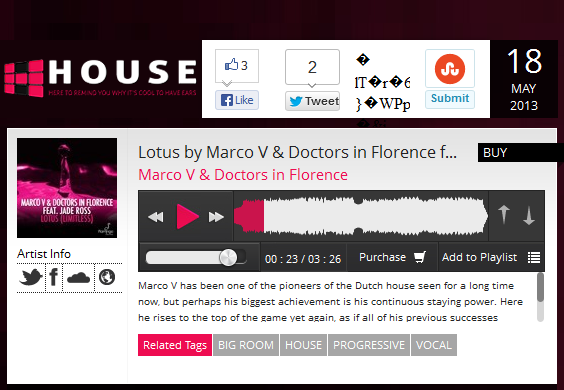 "House.net Features Marco V & Doctors in Florence's ""Lotus (Limitless)"""