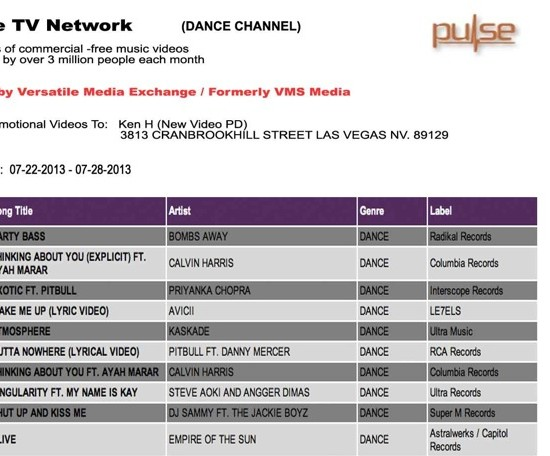 "Bombs Away's ""Party Bass"" Video Reaches #1 On Pulse TV's Dance Charts"