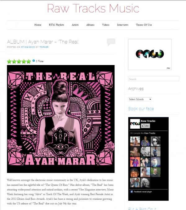 ayah marar - raw tracks music review