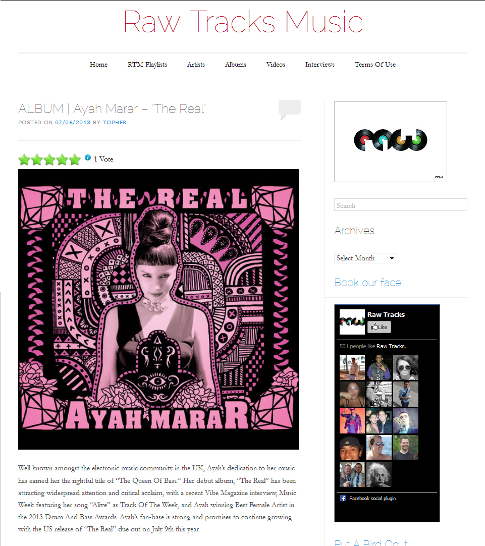 ayah marar - raw tracks music review
