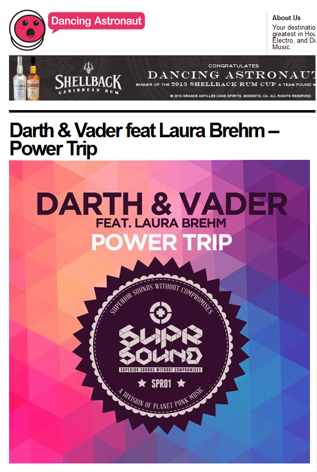 "Dancing Astronaut Features Darth & Vader's ""Power Trip"""