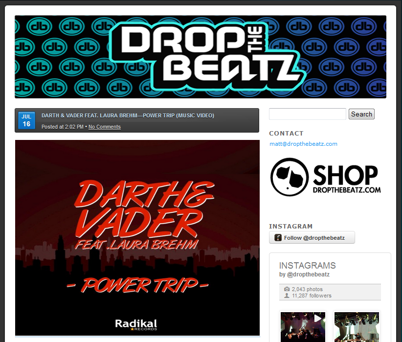 "Drop The Beatz Features Darth & Vader's ""Power Trip"""