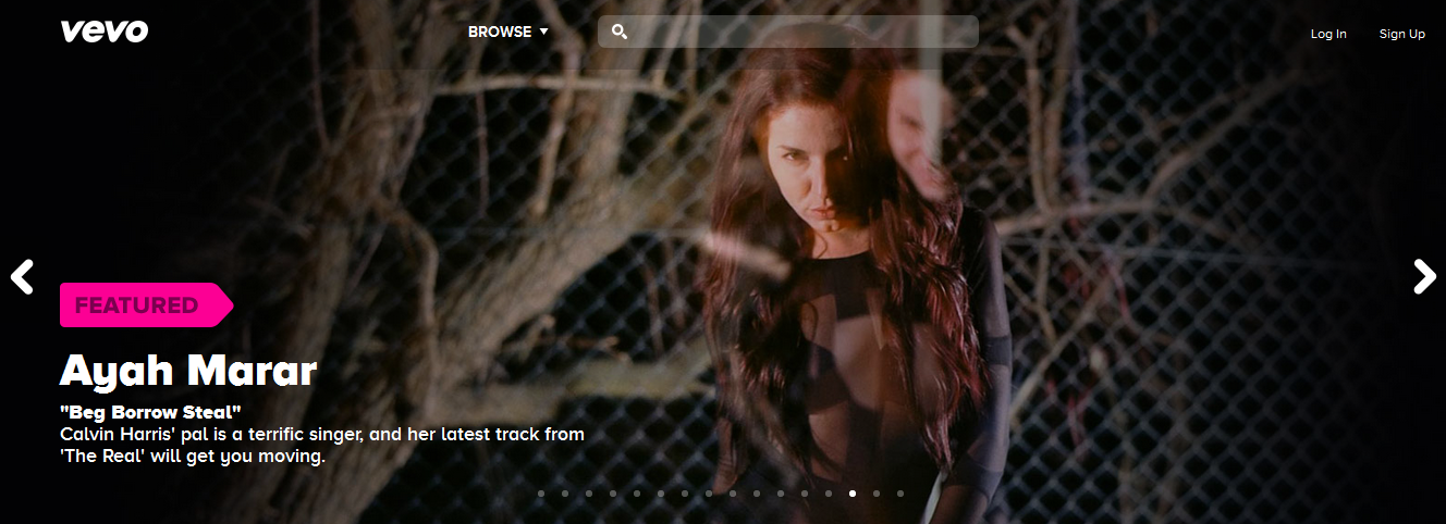 Ayah Marar Featured On Front Page Of Vevo