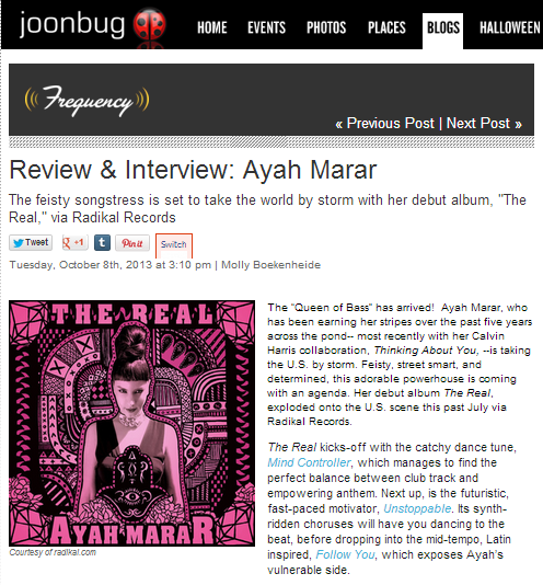 Joonbug Interviews Ayah Marar