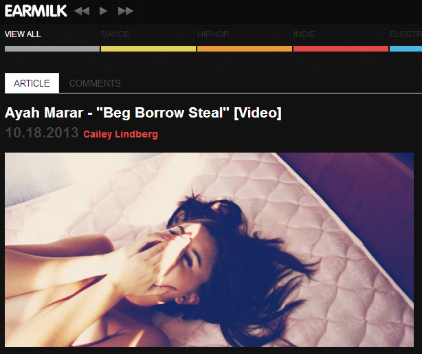 "Earmilk Features ""Beg Borrow Steal"" Video"