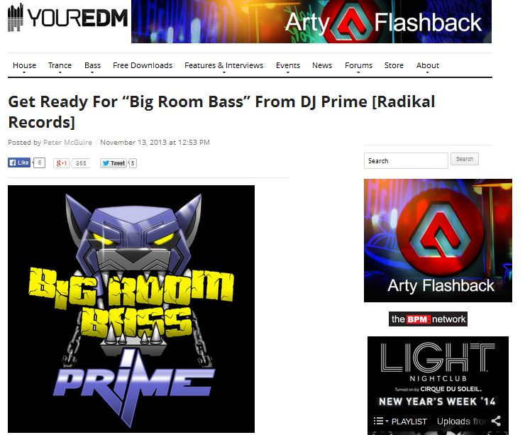"Your EDM Features ""Big Room Bass"""