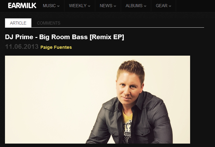"DJ Prime's ""Big Room Bass"" Featured On Earmilk"