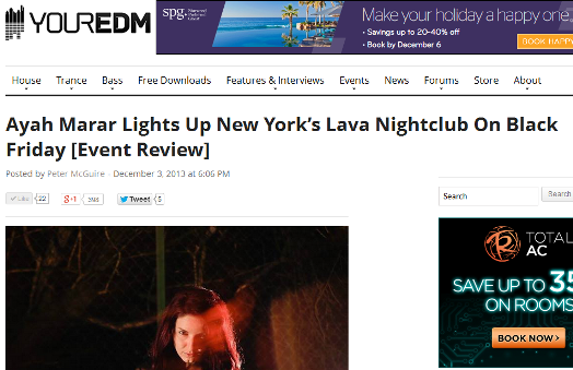 YourEDM.com Reviews Ayah Marar's Show At Lava Nightclub