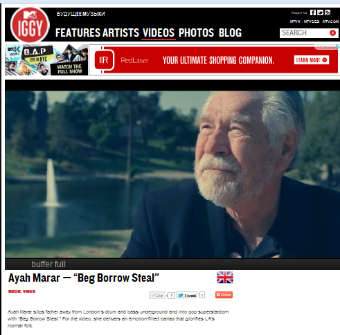 "Ayah Marar's ""Beg Borrow Steal"" on MTV Iggy"