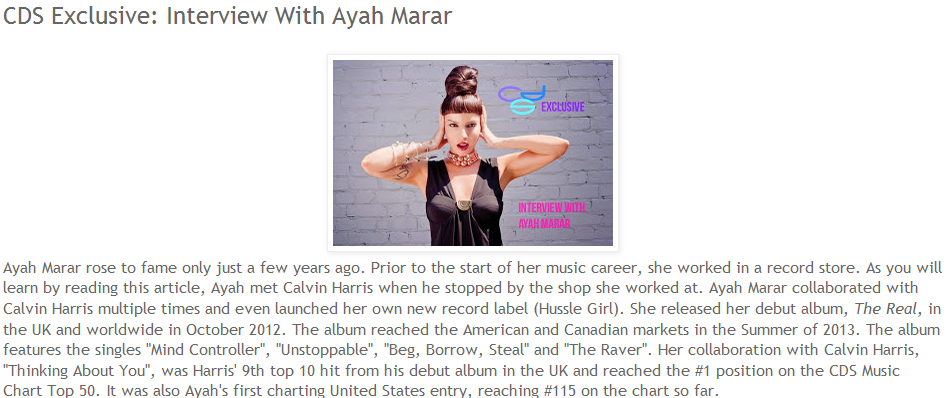 CDS Exclusive Interviews Ayah Marar
