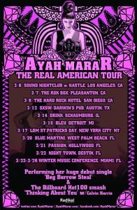 Ayah Marar Tour Poster DRAFT2