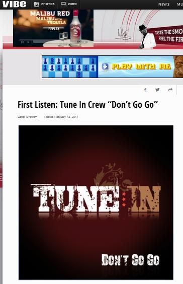 "Radikal Records Presents Tune In Crew ""Don't Go Go"""