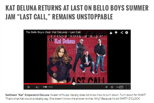 """Last Call"" by The Bello Boys feat. Kat DeLuna Featured on Muumuse.com"