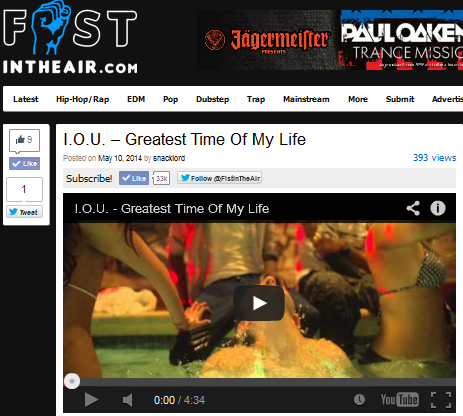 "FistInTheAir.com Features I.O.U.'s ""Greatest Time Of My Life"""