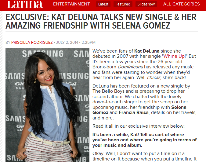 Kat DeLuna Speaks With Latina.com On Her Featuring With The Bello Boys