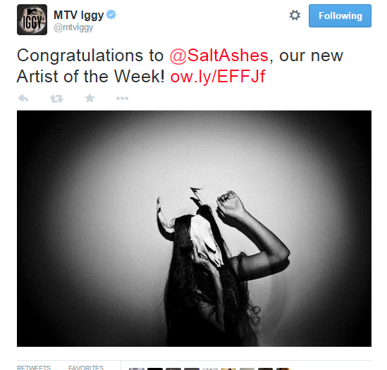 Salt Ashes Is MTV Iggy's Artist Of The Week