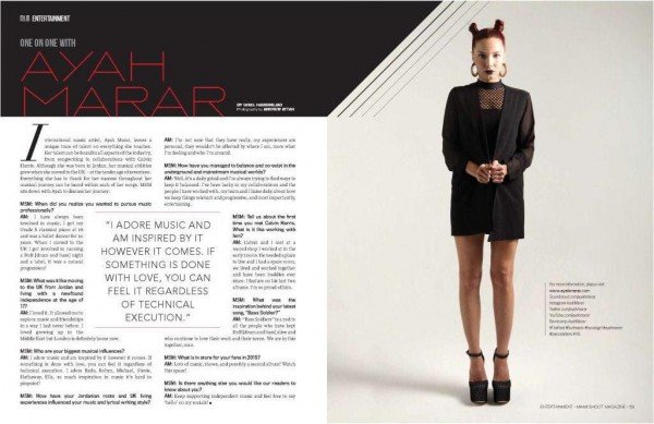 Miami Shoot Mag One on One with Ayah Marar