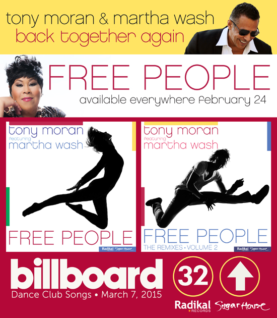 Tony Moran (feat. Martha Wash) - Free People Out Now!