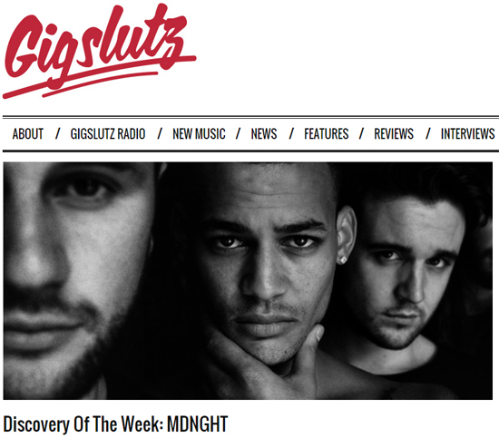"MDNGHT Featured as ""Discovery of the Week"" on GigSlutz"