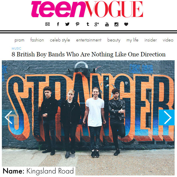 Teen Vogue Names Kingsland Road as One of Britain's Best Boy Bands