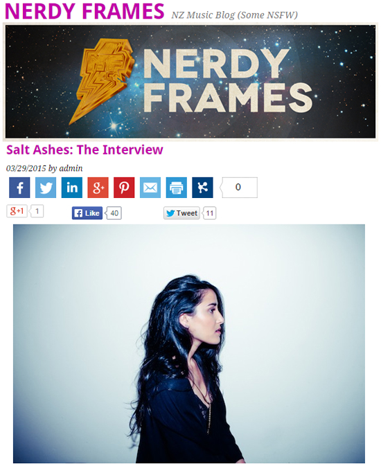 Salt Ashes Nerdy Frames Interview