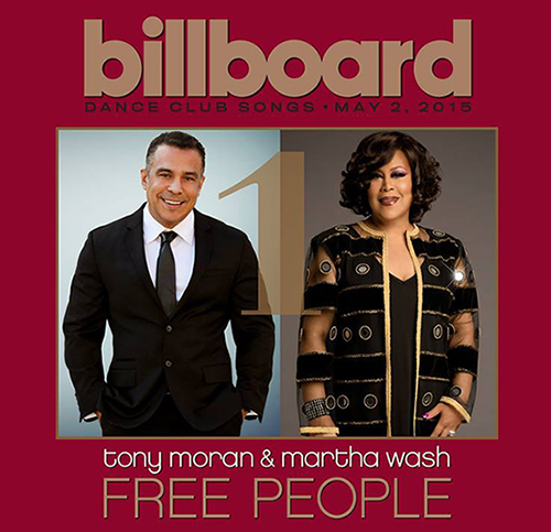 "DJ Tony Moran and Martha Wash's ""Free People"" Tops the Billboard Dance Club Chart"