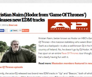 "Alternative Press Features Kristian Nairn's ""Up/Beacon"""