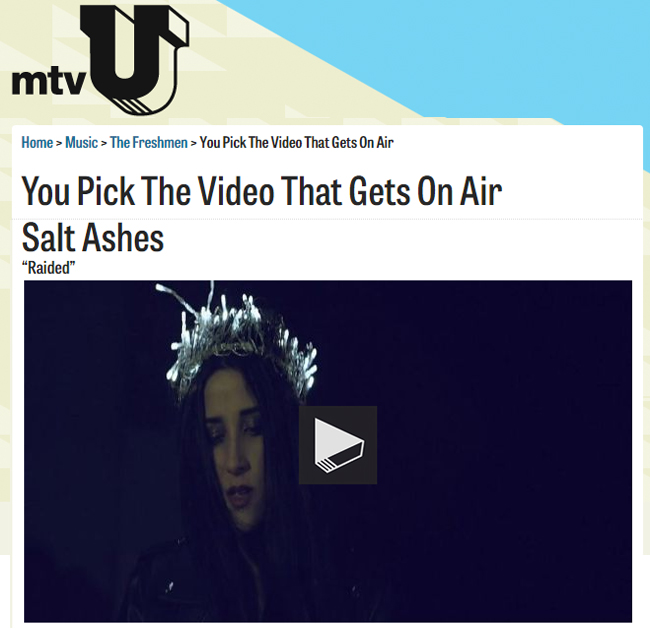 Salt Ashes - Raided on mtvU The Freshmen