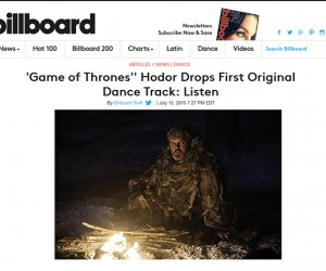 Kristian Nairn's Lead Single Featured on Billboard