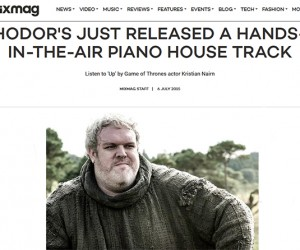 "Mixmag Features Kristian Nairn's Single ""Up (featuring Leanne Robinson)"""