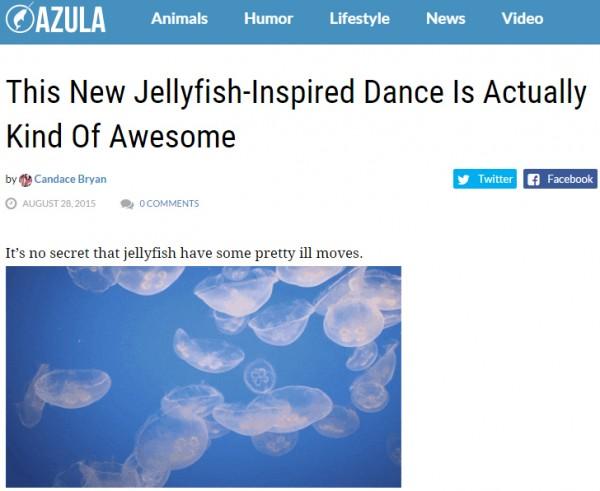 Marine Blog Azula features Boom Boom Jellyfish, Jellyfish Dance, DJ Jellyfish