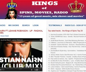 """Up / Beacon (featuring Leanne Robinson)"" Featured Track on Kings of Spins Top 20"