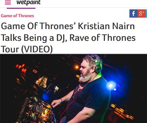 Kristian Nairn Talks Music With Wetpaint