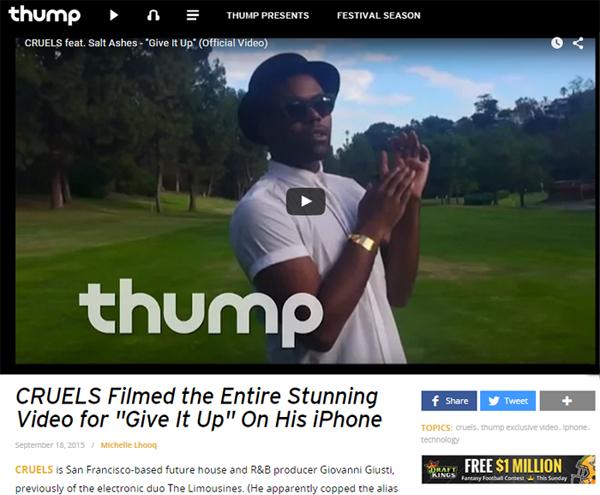 THUMP Premieres Music Video for CRUELS feat. Salt Ashes
