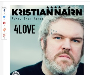 "Idolator Premieres Kristian Nairn's New Single ""4Love (feat. Salt Ashes)"""