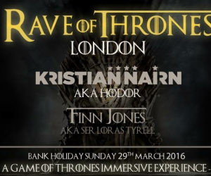 Kristian Nairn's Rave of Thrones Will Stop in London, UK