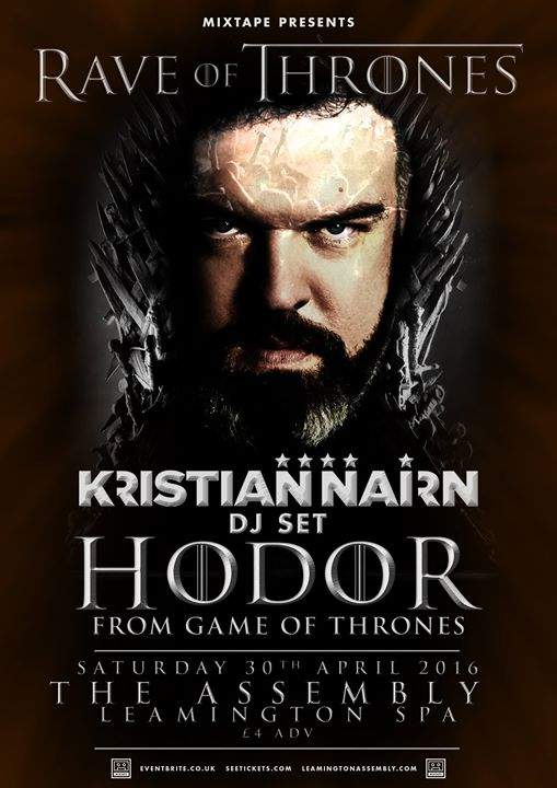 Nairn United Kingdom  City new picture : Kristian Nairn Rave of Thrones Leamington United Kingdom EDM DJ House