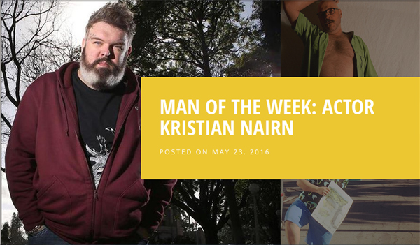 Kristian Nairn - Chubstr Man of The Week